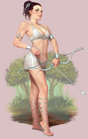 Фото Древнегреческая героиня с луком и стрелами, иллюстратор Вилл Мурай / Will Murai