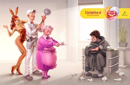 Фото К больному парню в гости пришли: заботливая бабушка, сантехник с вантузом и стриптизерша в костюме зайки, иллюстратор Вилл Мурай / Will Murai (Coristina d)