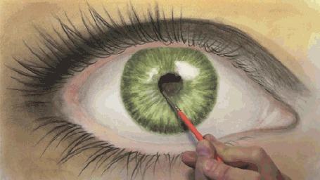 Фото Рисунок зеленого женского глаза (© StepUp), добавлено: 22.04.2012 21:10