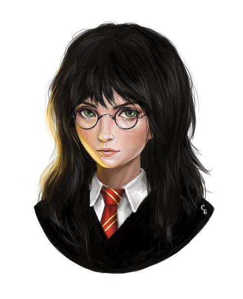 Harry Potter / Гарри Поттер в женском обличье.