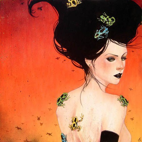 Фото Девушка с лягушками на спине и на волосах (Sylvia Ji) (© Кофе мой друг), добавлено: 02.05.2012 17:28