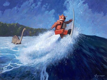 Фото Робот катается на серфинге (Eric Joyner)