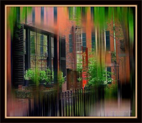 Фото Дом под цветным дождём. Фотограф Питер Холм  ( Peter Hplme III)