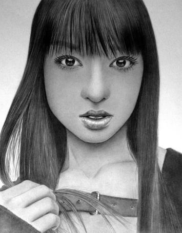 Фото Симпатичная девушка с большми глазами, карандашный портрет, художник Klsadako (© Radieschen), добавлено: 05.05.2012 17:23