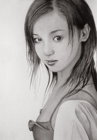 Фото Смелая нежная девушка, карандашный портрет, художник Klsadako (© Radieschen), добавлено: 05.05.2012 17:46