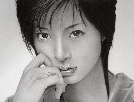 Фото Задумчивая японка, карандашный портрет, художник Klsadako (© Radieschen), добавлено: 05.05.2012 17:46