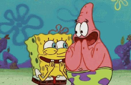 Фото Губка Боб и Патрик дружно хихикают (м/с 'Губка Боб Квадратные Штаны / Sponge Bob Square Pants') (© Кофе мой друг), добавлено: 06.05.2012 11:13