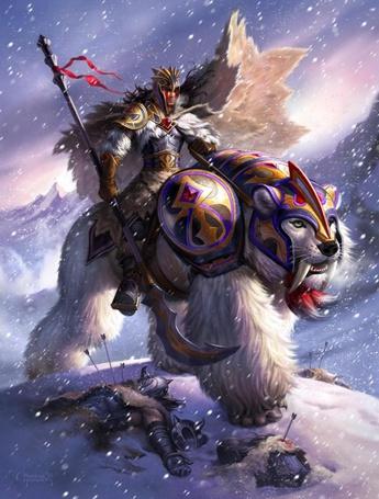 Фото Воин на белом звере (© Anatol), добавлено: 08.05.2012 18:38
