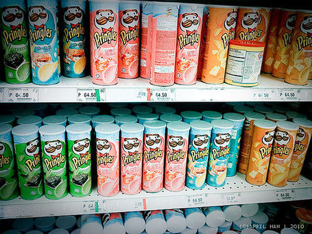 Фото Прилавок с чипсами 'Pringles'
