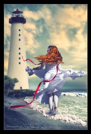 Фото Рыжеволосая девушка у моря (© Флориссия), добавлено: 20.05.2012 11:40