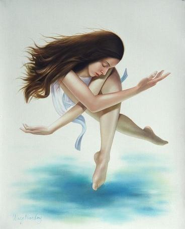Фото Девушка парит в воздухе (© Anatol), добавлено: 26.05.2012 23:18