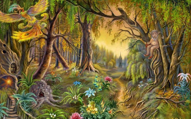 Фото сказочный лес в котором обитают