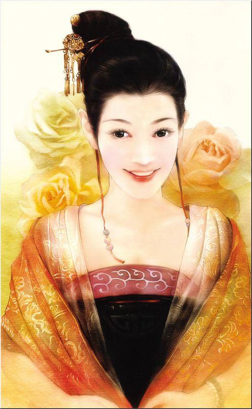 Фото Милая китайская барышня улыбается