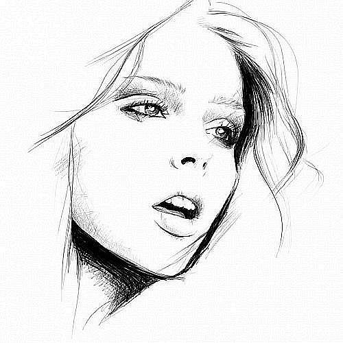 Фото красивая нарисованная простым
