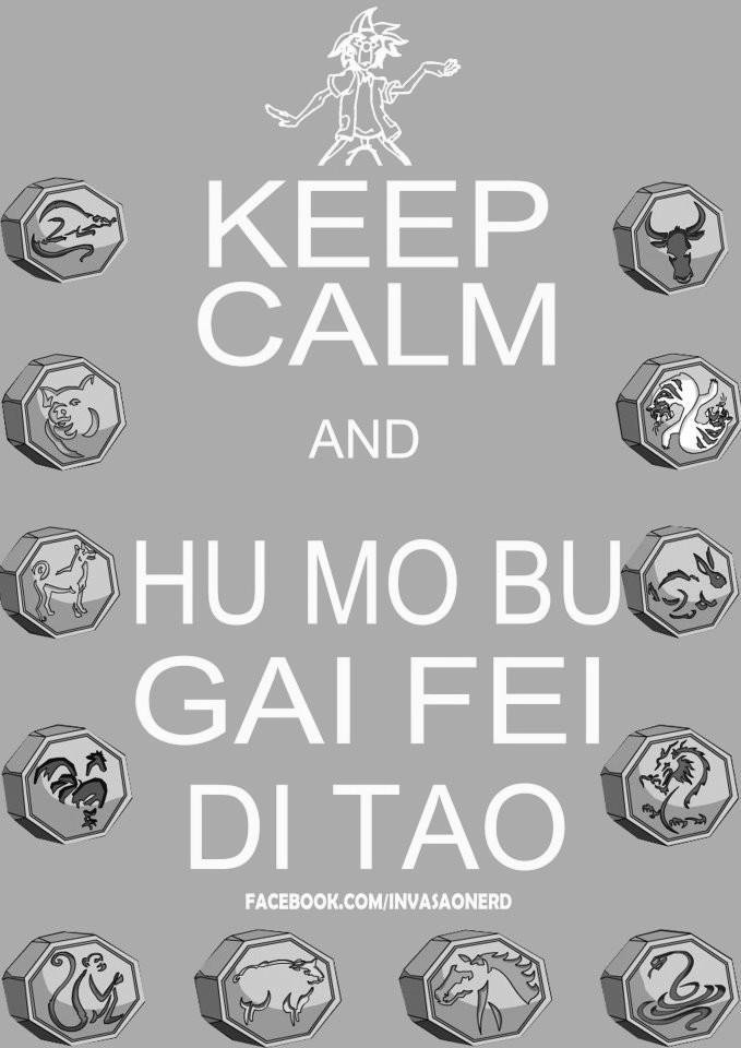 Фото 12 талисманов из мультсериала Приключения Джеки Чана / Jackie Chan adventures ('keep calm and hu mo bu gai fei di tao' - 'сохраняй спокойствие и 'hu mo bu gai fei di tao')