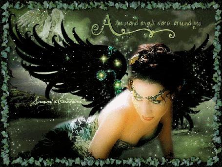 Фото Девушка - ангел на берегу реки (A thousand angels dance around you-Тысяча ангелов танцует вокруг нас)