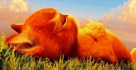 Фото Маленький кот в сапогах лежит на лужайке м/ф 'Кот в сапогах' (© Феминистка), добавлено: 18.06.2012 23:12