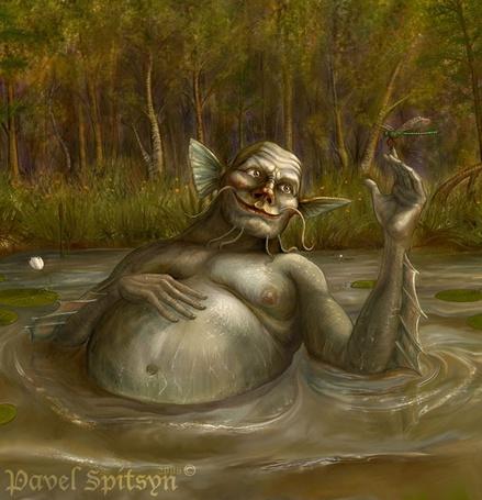 Фото Водяной лежит в болоте, играя со стрекозой - Pavel Spitsyn 2006 (© Anatol), добавлено: 19.06.2012 14:24