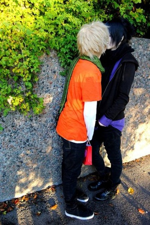 Фото Косплей яой на аниме Наруто / Naruto. Персонажи Саске и Наруто / Naruto and Sasuke