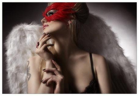 Фото Красное, черное, классика - девушка в маске с крыльями (© Anatol), добавлено: 21.06.2012 19:03