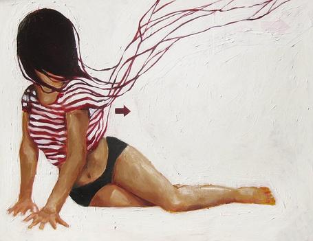 Фото Полулежащая брюнетка с закрытым волосами лицом (© Antidote), добавлено: 26.06.2012 18:59