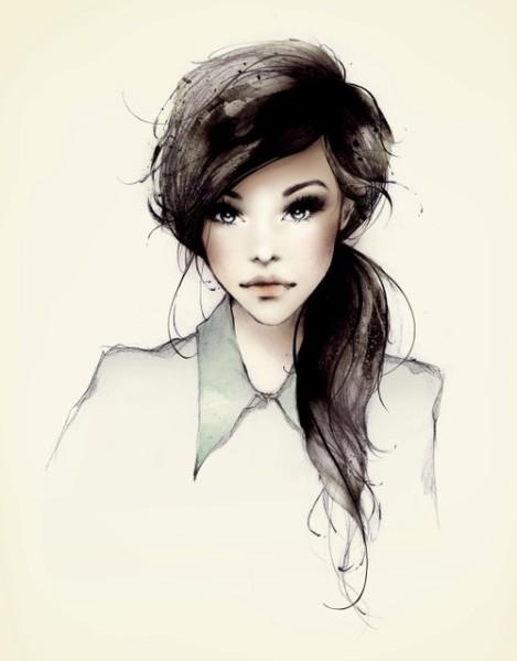 Фото эффектная нарисованная девушка в