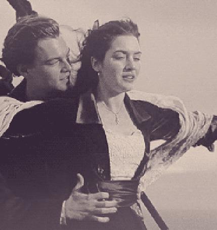Фото Леонардо ДиКаприо / Leonardo DiCaprio и Кейт Уинслет / Kate Winslet. Кадры из фильма Титаник / Titanic