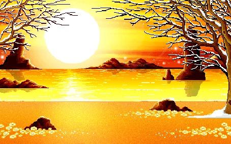 Фото Закат на море (© Флориссия), добавлено: 08.07.2012 18:34