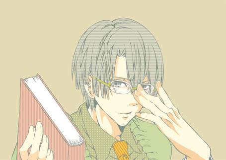 Фото Hijirikawa Masato / Масато Хиджирикава из аниме Поющий Принц / Uta no Prince-sama в очках и с книгой (© D.Phantom), добавлено: 12.07.2012 19:05