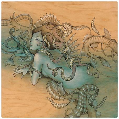 Фото Девушка - русалка в переплетение морских хвостов, художница Одри Кавасаки / Audrey Kawasaki (© Кофе мой друг), добавлено: 16.07.2012 11:52
