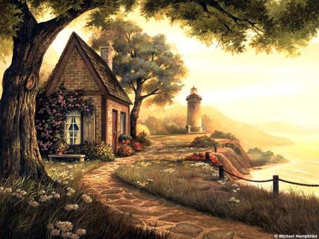 Фото Каменная дорожка к маленькому домику, Michael Humphries (© Флориссия), добавлено: 20.07.2012 11:01