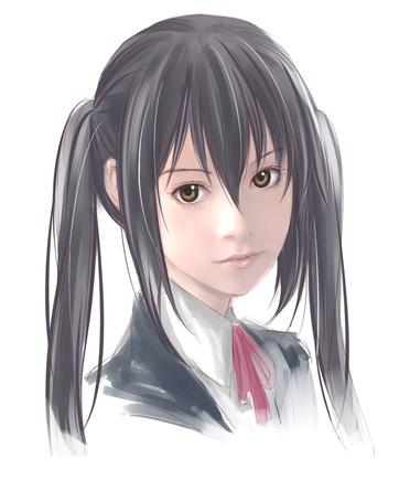 Фото Портрет Nakano Azusa / Азуса Накано из аниме Кей-он / Клуб лёгкой музыки / K-ON