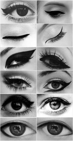 Фото По разному накрашенные глаза девушек