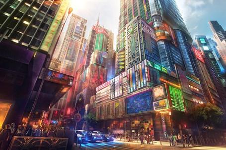 Фото Нарисованная улица Токио / Tokio (Япония / Japan) (© Юки-тян), добавлено: 23.07.2012 23:46