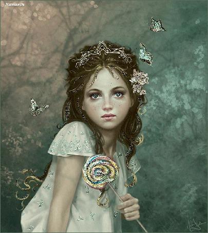 Фото Женский портрет в стиле Фентези, художница Мелани Делон / Melanie Delon. Имя 'Матильда'