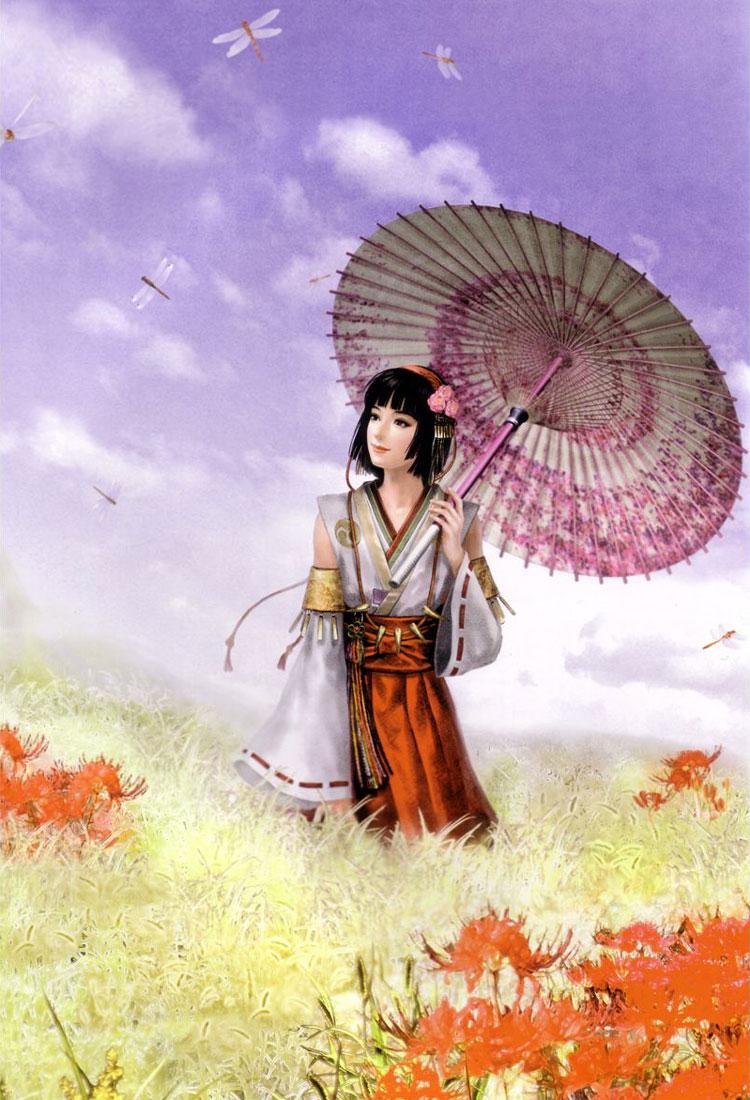 Фото девушка с зонтиком гуляет на