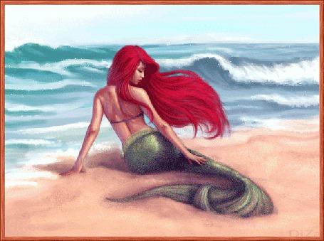 Фото Девушка-русалка лежит на берегу моря, автор DiZa