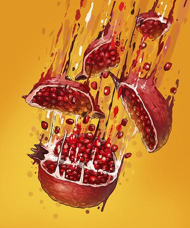Фото Куски граната разлетаются в разные стороны, художник Georgi Dimitrov / Георгий Дмитров (Erase)