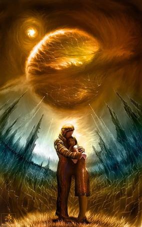 Фото Прощание космонавта с любимой девушкой