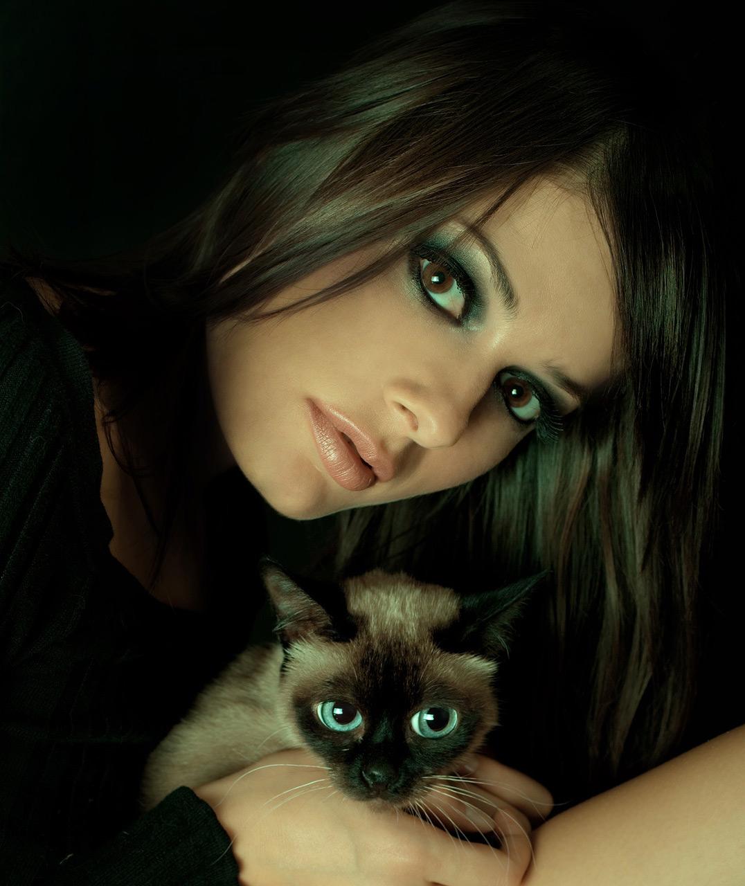 Женщина как кошка картинки