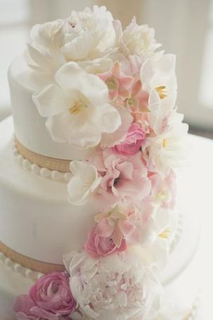Фото Свадебный торт с цветами (© Sveta_Sherer), добавлено: 03.09.2012 11:26