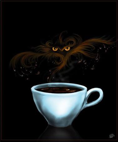 Фото Кофейный дым напоминает кошачьи глаза