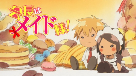 Фото Куклы Усуи Такуми / Usui Takumi и Аюзава Мисаки / Ayuzawa Misaki из аниме Президент студсовета - горничная! / Kaichou wa Maid-sama! на фоне сладостей