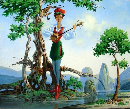 Фото Трубадур играет на банджо - сказочный и таинственный мир художника Константина Канского (© Anatol), добавлено: 25.09.2012 18:39
