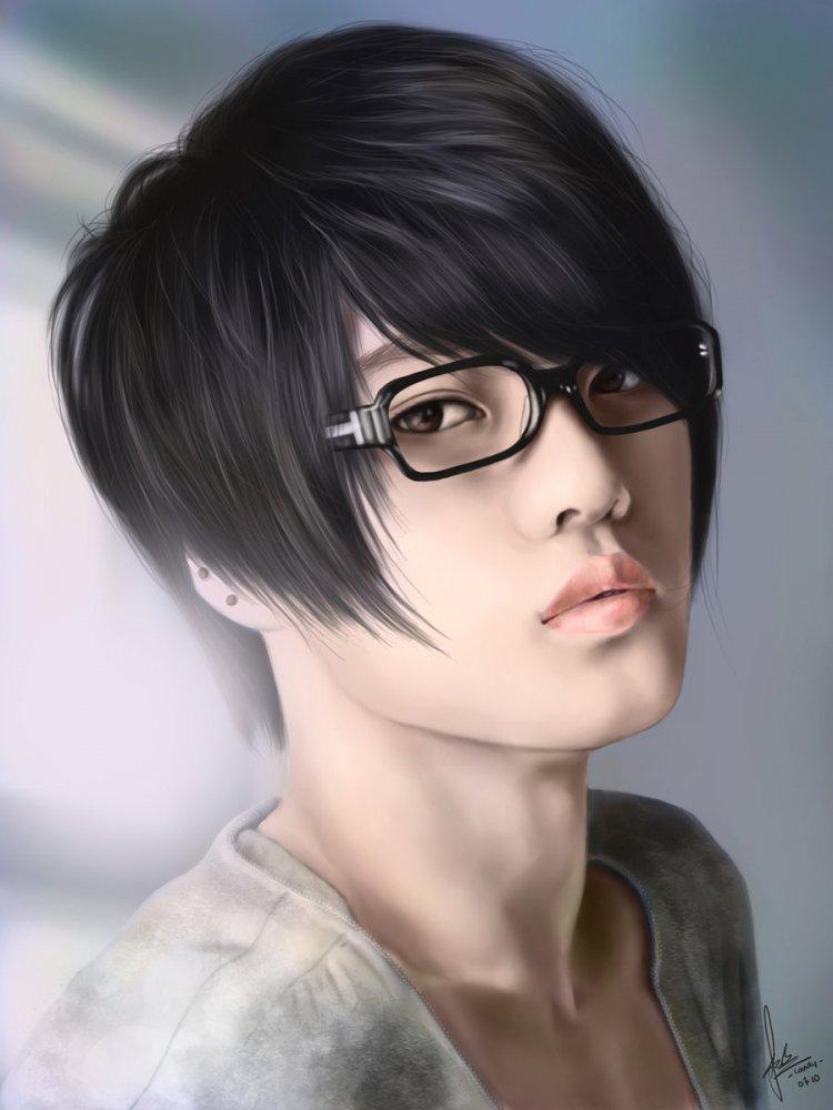 картинки парень в очках японец торжество