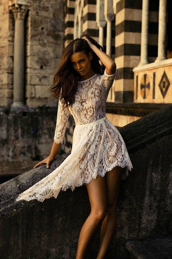 Фото итальянских девушек в платьях