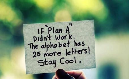 Фото Записка в руке 'If 'Plan A' didn`t work, the alphabet has 25 more letters! Stay cool / Если 'план А' не сработал, в алфавите есть еще 25 других букв. Держи нос по ветру!' (© Princessa), добавлено: 06.10.2012 08:06
