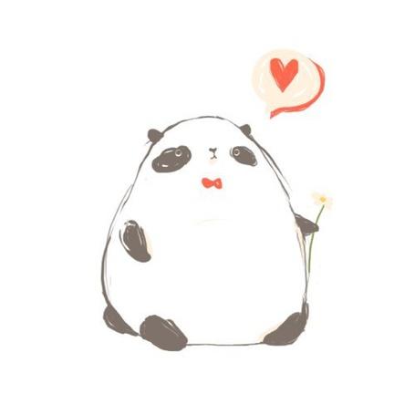 Фото Панда с цветочком в лапе думает о любви
