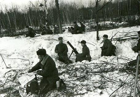 Фото Начало наступления Советских войск под Москвой, фронтовые будни