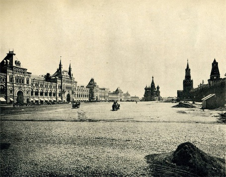 Фото Москва, Торговые ряды на Красной площади, 1896 год